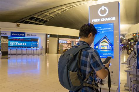 phone charging stations  airports
