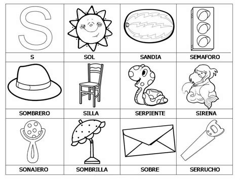 440 la barraca letras 8437616069 palabras con s dibujos escolares palabras dibujo escuela y alfabetizacion