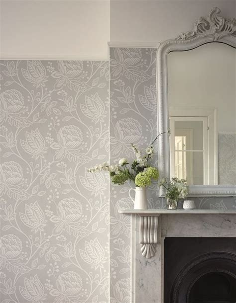 Grey Wallpaper Room Designs | this pebble grey wallpaper design is called mirabella and
