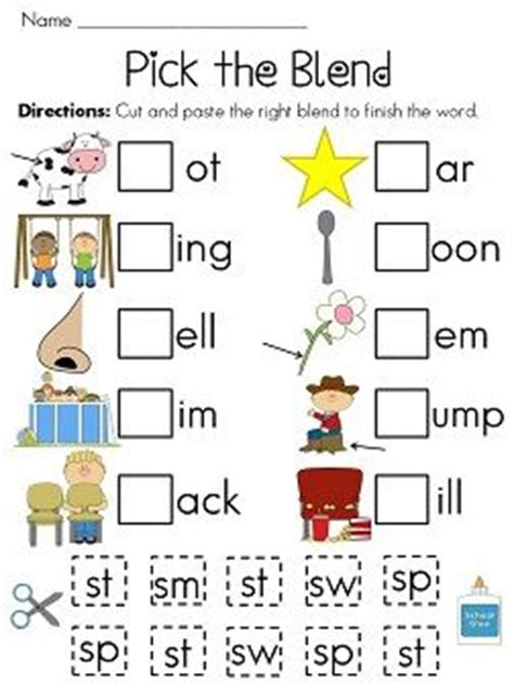 S Blends Worksheet by S Blends Worksheets Pack Initials Of And Ideas