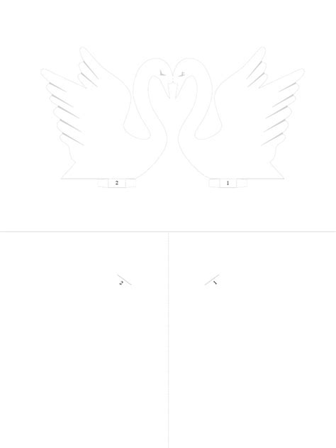 piano pop up card template pdf 3d of swans pop up card pdf