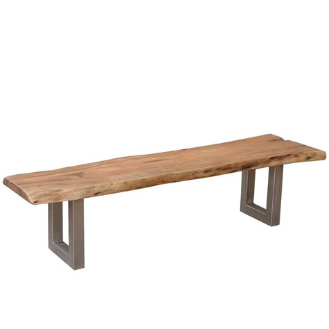 bench breakfast table modern rustic live edge dining table chair set with live