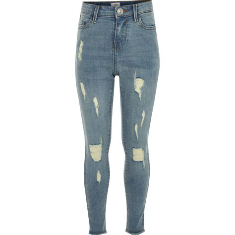 girls skinny jeans girls blue amelie ripped super skinny jeans skinny jeans