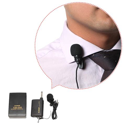 km 208 professional transmitter wireless microphone clip