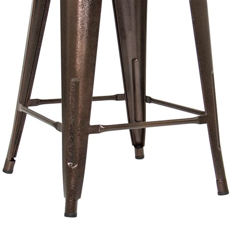 Industrial Bar Stool Set by Industrial Style Set Of 2 Counter Height Metal Wood Bar
