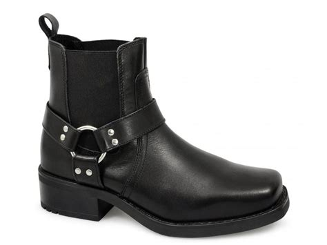 mens leather biker boots gringos harley mens harness leather ankle cowboy biker