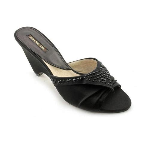 verystyles 187 all black stud mule satin dress shoes for