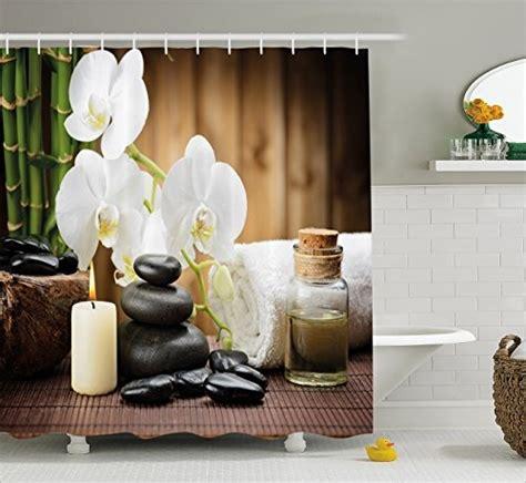 decoracion spa cortina de ducha de decoraci 243 n de spa de ambesonne estilo
