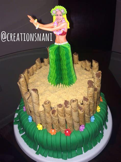 bizcocho decorado hawaiano cake torta hawaiian hawaiana pastel home made tiki