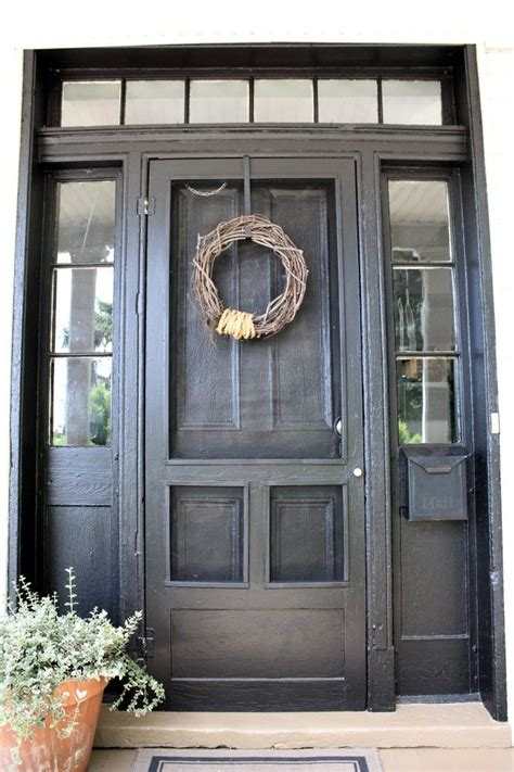 exterior door with screen 25 best ideas about wood screen door on