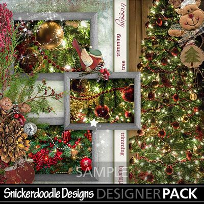 complete christmas tree trimming kit digital scrapbooking kits trimming the tree kit snicker celebrations holidays