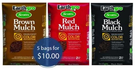 save 46 on scotts earthgro mulch 5 bags for 10 the