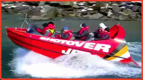 shotover jet boat video jet boat ride shotover river new zealand fast spinning