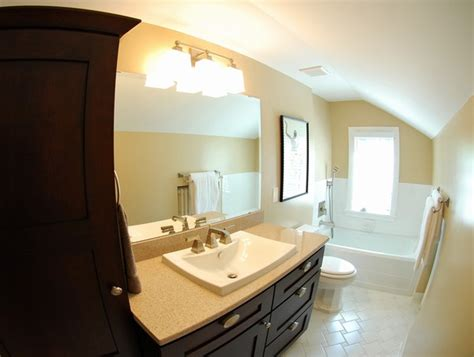 Attic Bathroom Sloped Ceiling by Attics Castle Building Remodeling Inc