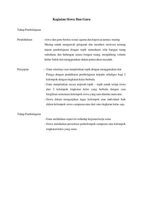 Pembelajaran Kelas Rangkap rencana pembelajaran kelas rangkap sardiana