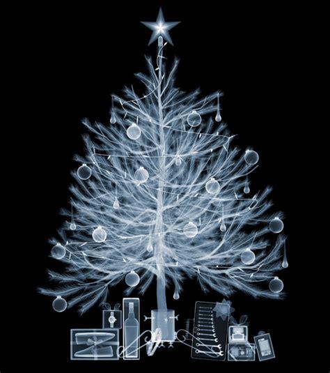 see thru santa x rayed christmas tree and gifts geekologie