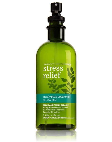 Stress Relief Pillow by Bath Works Aromatherapy Eucalyptus Spearmint Stress