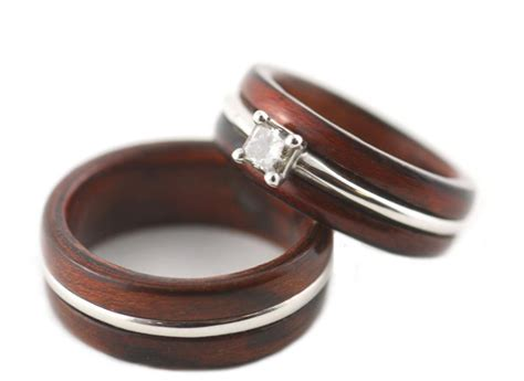 Wooden Wedding Rings Our One 5 by Unique Wooden Wedding Bands For Engagement Rings