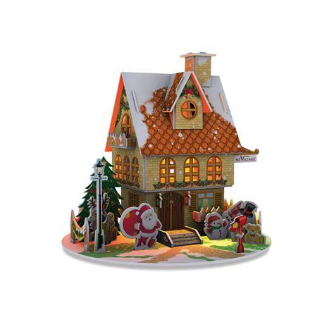 myvillage christmas house led lit 3d puzzle kit mypz01