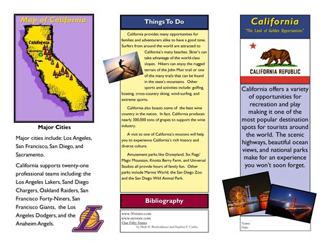 Travel Brochure Exles For Students Theveliger Free Brochure Templates For Students