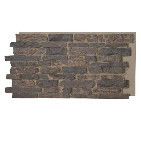 decorative stone home depot superior building supplies gray rock 24 3 4 in x 48 3 4