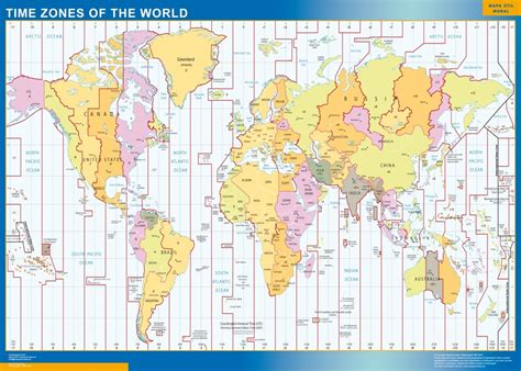 time zone map world our time zones world map wall maps mapmakers offers poster laminated or magnetic framed
