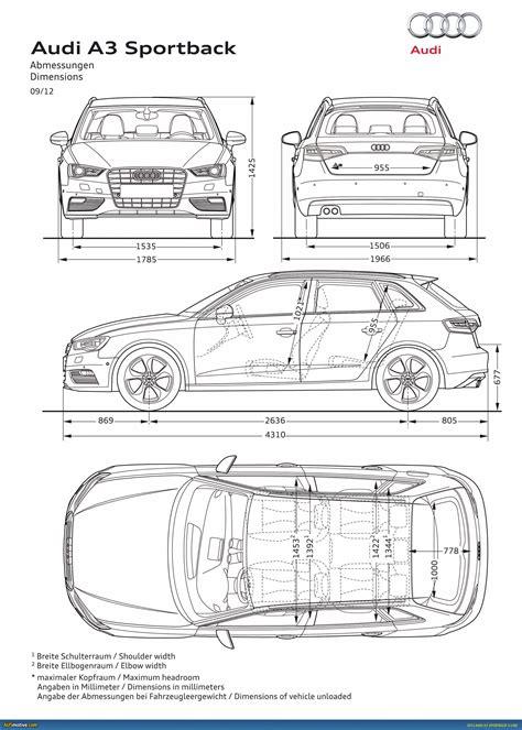 Audi A3 Dimensions 2014 by Ausmotive 187 2013 Audi A3 Sportback Revealed