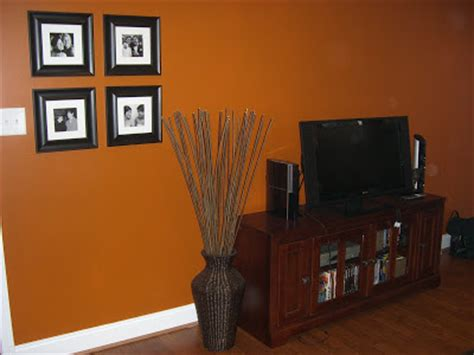 Burnt Orange Living Room Walls by An Inviting Abode Decorating Chapel Hill Style