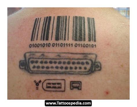 barcode tattoo devil vga socket and barcode tattoo