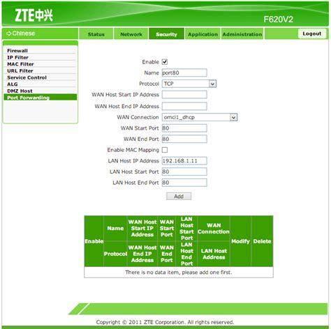 mikrotik port forwarding setting port forwarding zte modem to mikrotik