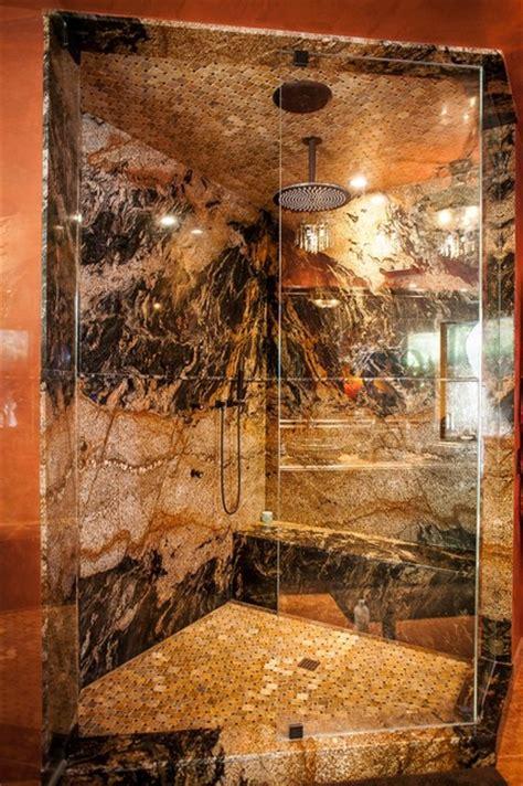 Bathroom Remodel Ideas Walk In Shower desert dream granite slab shower mediterranean