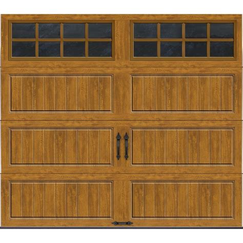 clopay gallery collection 8 ft clopay gallery collection 8 ft x 7 ft 6 5 r value insulated ultra grain medium garage door
