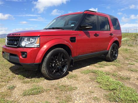 red land rover lr4 2014 lr4 firenze red w 20 quot black package land rover