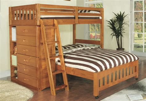 discovery world furniture twin  full honey loft bunk beds kfs stores