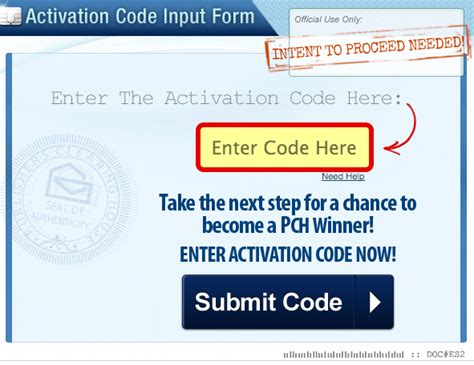 Pch Activation Code Input Form - did you receive a pch notice with an activation code inside pch blog