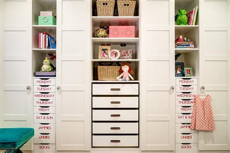 kid closet drawers and closet on pinterest labeled kids closet drawers transitional girl s room