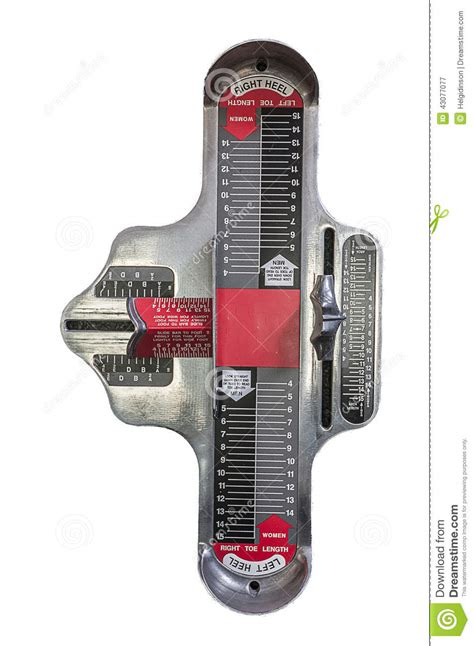 shoe size chart brannock brannock device stock image image of contractor length