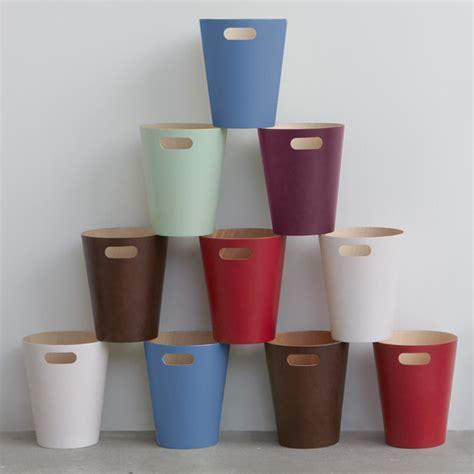 waste paper bins umbra woodrow waste bin white waste paper bins