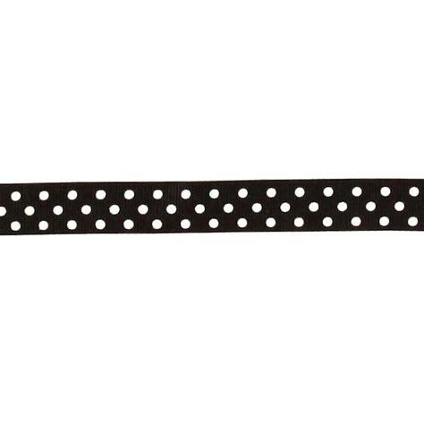 Ribbon Dot Black 5 8 quot grosgrain ribbon polka dots black white discount