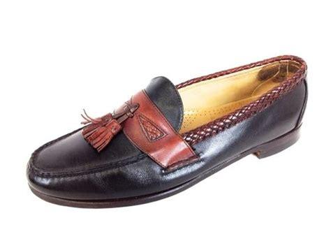 two tone tassel loafers allen edmonds mens maxfield 2 tone leather slip on loafers