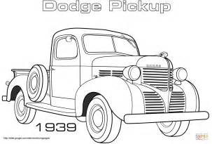 1939 Dodge Pickup Coloring Page Free Printable Coloring Dodge Charger Para Colorir
