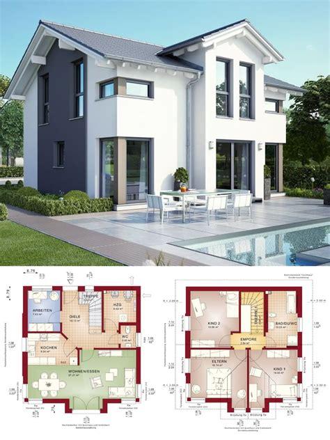 modernes haus mit satteldach architektur querhaus pool