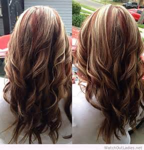 Deep red hair with blonde highlights deep red hair and the skin tones