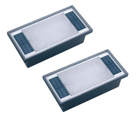 Recessed Patio Lights 2 Pack Solar Power 2 White Led Outdoor Garden Patio Pathway Recessed Paver Light Ebay