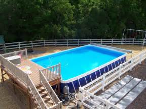 swimming pool deck ideas for portable pools and above
