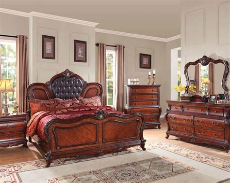 Cherry Bedroom Furniture Cherry Finish Bedroom Set Dorothea By Acme Furniture Ac20590set