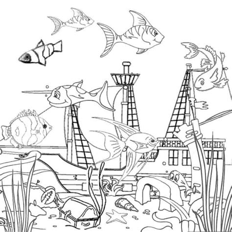 ocean coloring pages for toddlers coloring pages