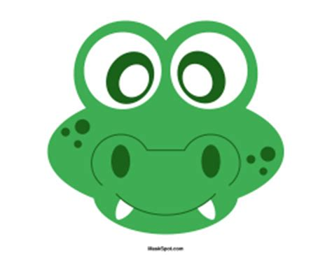 printable alligator mask alligator mask templates including a coloring page version