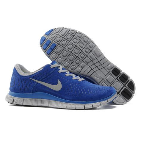 blue grey nike free 4 0 v2 suede s running shoes