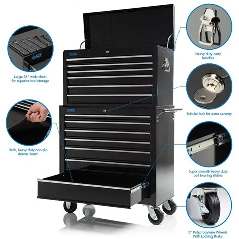 13 Drawer Tool Box by 36 Quot Professional 13 Drawer Tool Chest Roller Cabinet